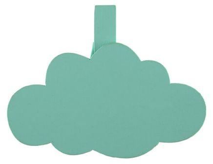 Dekorációs csipeszek Felhők menta