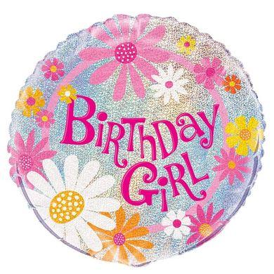 Fólia léggömb Birthday Girl glitz