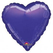 Fólia léggömb sötétlila szív