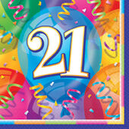 Szalvéta 21 Brilliant Birthday