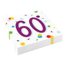 """Szalvéta Radiant Birthday """"60"""""""