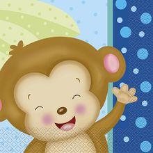 Szalvéta Baby Boy Monkey