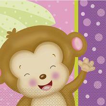 Szalvéta baby girl Monkey