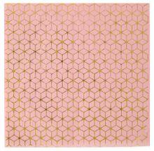 Szalvéta Cement Tile rózsaszín-arany