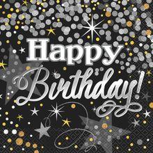 Szalvéta Glittering Birthday