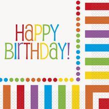 Szalvéta Happy Birthday Rainbow