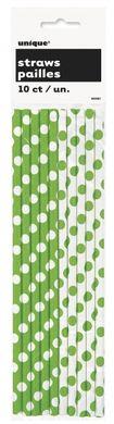 Szívószál papírból lime zöld