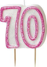 Gyertya 70 rózsaszín
