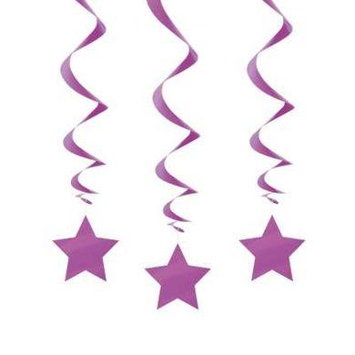 Függő spirális lila csillag