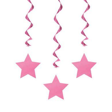 Függő spirális Star rózsaszín