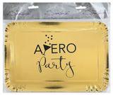 Tálca Apéro Party metalikus arany