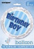 Fólia léggömb Birthday Boy