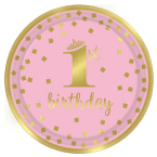 1. születésnap rózsaszín