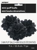 Mini pom pom gömb fekete
