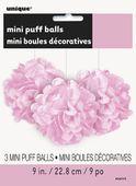 Mini pom pom gömb baby pink