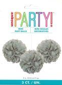 Mini pom pom gömb ezüst