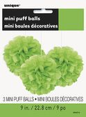 Mini pom pom gömb zöld