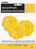 Mini pom pom gömb sárga