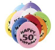 """Léggömb """"50"""" Brilliant birthday"""
