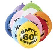 """Léggömb """"60"""" Brilliant birthday"""