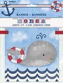 Banner 1. születésnap Kis matróz