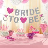 Betűfüzér Party Bride to Be Glitter