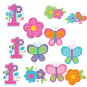 Dekoráció 1. születésnap  B-day Girl