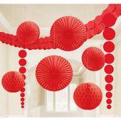 Dekorációs szoba készlet piros
