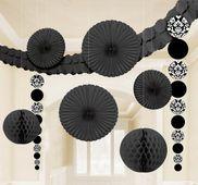 Dekorációs szoba készlet fekete