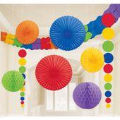 Dekorációs szoba készlet rainbow multi