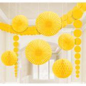 Dekorációs szoba készlet sárga