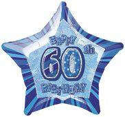 Fólia csillag kék 60