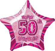 Fólia csillag rózsaszín 50