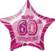 Fólia csillag rózsaszín 60