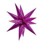 Fólia léggömb 3D csillag rózsaszín