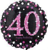 Fólia léggömb 40 Pink Diamonds