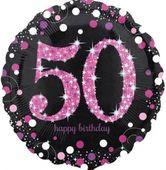 Fólia léggömb 50 Pink Diamonds