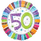 """Fólia léggömb """"50""""  Radiant Birthday"""