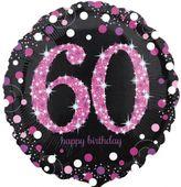 Fólia léggömb 60 Pink Diamonds