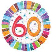 """Fólia léggömb """"60""""  Radiant Birthday"""