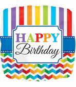 Fólia léggömb Birthday Bright Rainbow