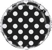 Fólia léggömb dots black