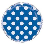 Fólia léggömb dots blue