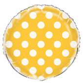 Fólia léggömb dots yellow