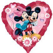 Fólia léggömb supershape Mickey és Minnie szív