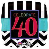 """Fólia léggömb """"40"""" születésnap"""