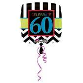 """Fólia léggömb  születésnap """"60"""""""