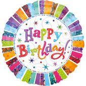 Fólia léggömb Radiant Birthday Jumbo