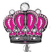 Fólia léggömb supershape rózsaszín korona*