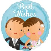 Fólia léggömb Vőlegény és menyasszony